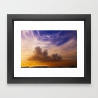 Fractal Skies Sunset Framed Art Print