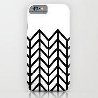 BLACK & WHITE LACE CHEVRON iPhone 6 Slim Case