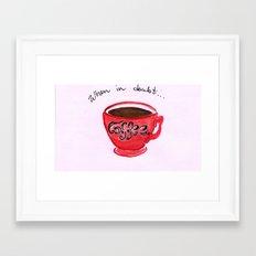 When in doubt...coffee! Framed Art Print
