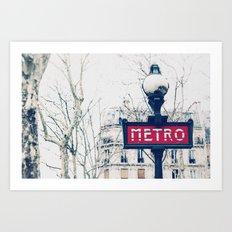 Paris Metro Sign Art Print