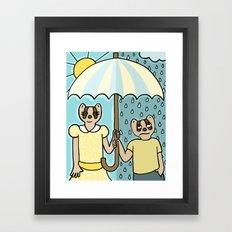 Rain or Shine Framed Art Print