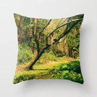 Wang Madcha Creek Throw Pillow