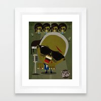 Ray Charles Zombie Framed Art Print