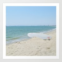 Edge of Long Beach Art Print