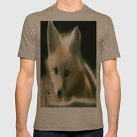 BLUE EYED FOX Mens Fitted Tee Tri-Coffee SMALL