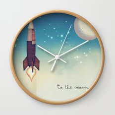 To the Moon 2 Wall Clock