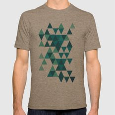 A Little Respect Mens Fitted Tee Tri-Coffee SMALL