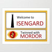 Isengard Twinned With Mo… Art Print