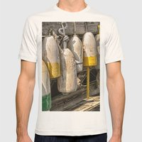 Old Buoys At The Dock Mens Fitted Tee Natural SMALL