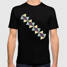 Oragami Traingles SMALL Mens Fitted Tee Black