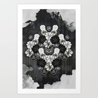 Flower Kaleidoscope Art Print