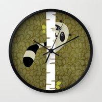 A shy raccoon Wall Clock