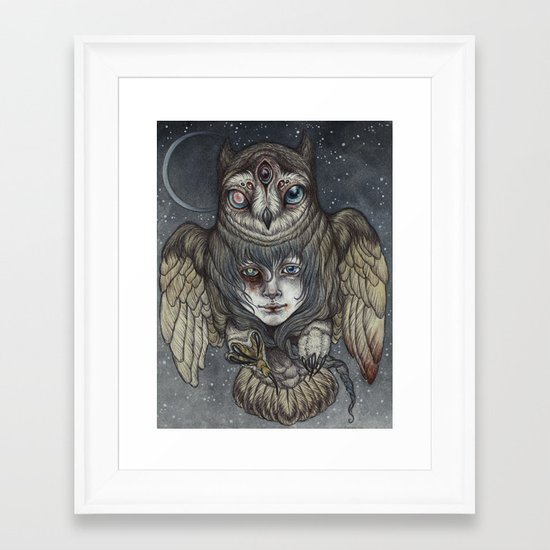 Ghosts in the Night Framed Art Print