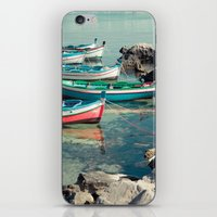 Sicily boats iPhone & iPod Skin