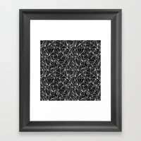Ab Fan Repeat Framed Art Print