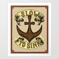 Slow To Sink Art Print