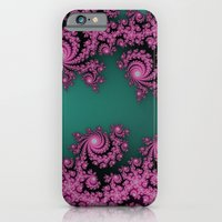 Fractal in Dark Pink and Green iPhone 6 Slim Case