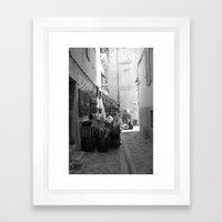 Cassis street Framed Art Print