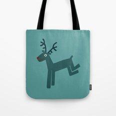 Reindeer-Teal Tote Bag