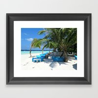 Maldivian Lounge Framed Art Print