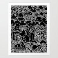 Oodles Of Doodles Of Sin… Art Print