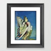Butterflies Are Free Framed Art Print