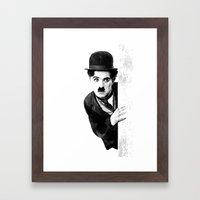MR CHAPLIN Framed Art Print