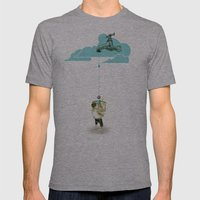 Glue Network Print Serie… Mens Fitted Tee Athletic Grey SMALL
