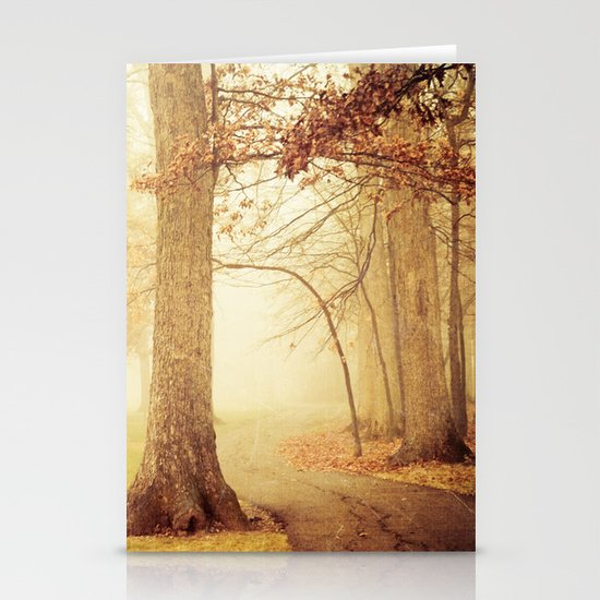 I Heard Whispering in the Woods Stationery Card