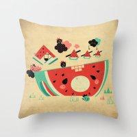 Watermelon Playground Throw Pillow