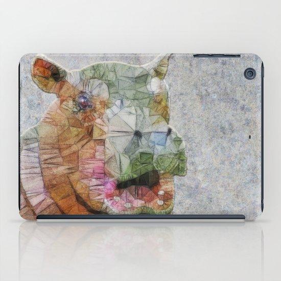 abstract hippo iPad Case