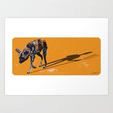African Wild Dog Art Print