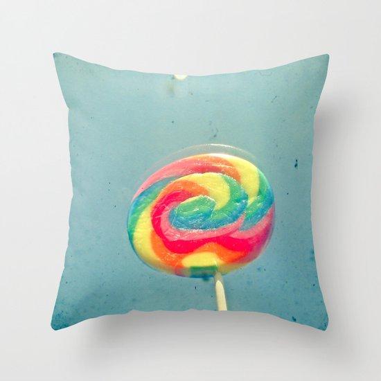 I Can Taste a Rainbow Throw Pillow