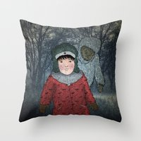 Посмотри! Йети - Beware of the Yeti!  Throw Pillow