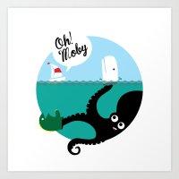 Kraken!!! Art Print