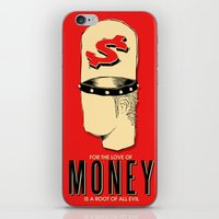 For The Love of Money Is A Root of All Evil iPhone & iPod Skin