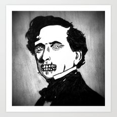 14. Zombie Franklin Pierce  Art Print