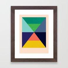 Dhurrie Ocean 3 — Matt… Framed Art Print