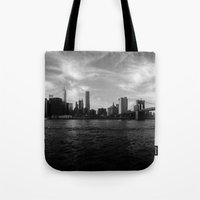 New York Skyline - Black… Tote Bag