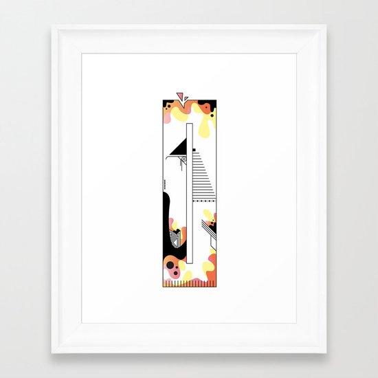 0 typo Framed Art Print