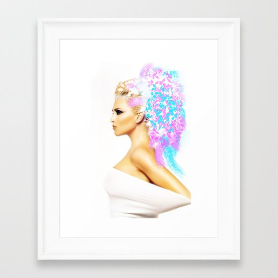 THE BRIGHT SIDE OF AN ANGEL Framed Art Print
