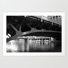 Chicago Riverwalk - Underneath State Street Bridge Art Print