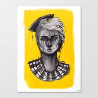 Seen in Yellow Canvas Print
