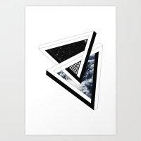 Art Print featuring Above & Below by Eric Zelinski