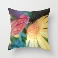 Hungry Butterfly Throw Pillow