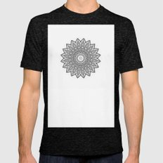 Mandala relief Mens Fitted Tee Tri-Black SMALL