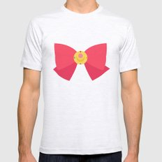Sailor Moon Bow Mens Fitted Tee Ash Grey SMALL