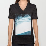 Unisex V-Neck featuring Teal Swim by Stoian Hitrov - Sto
