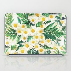 Textured Vintage Daisy and Fern Pattern  iPad Case