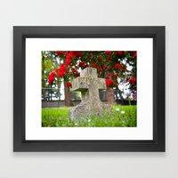 Cemetery Spring Framed Art Print